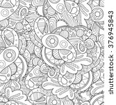 vector doodle wavy seamless... | Shutterstock .eps vector #376945843