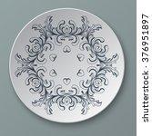 illustration floral ornament... | Shutterstock .eps vector #376951897