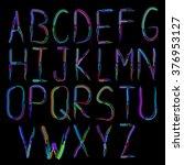 alphabet icon set in hand drawn ...   Shutterstock .eps vector #376953127