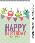 happy birthday card design.... | Shutterstock .eps vector #376958917