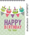 happy birthday card design.... | Shutterstock .eps vector #376958917