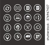 set of web icons contact 1