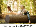 funny little girl with down... | Shutterstock . vector #376970983