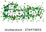 green shamrocks on the white... | Shutterstock .eps vector #376974853