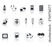 medical line icons black and... | Shutterstock .eps vector #376976077