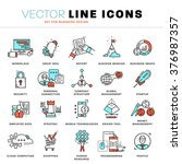thin line icons set. business... | Shutterstock .eps vector #376987357