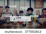 like share social media news... | Shutterstock . vector #377002813