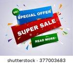 super sale banner.vector... | Shutterstock .eps vector #377003683