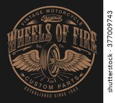motorcycle typography  t shirt... | Shutterstock .eps vector #377009743