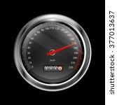 a vector speedometer...   Shutterstock .eps vector #377013637