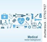 medical background. vector... | Shutterstock .eps vector #377017927