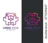 isometric cube logo design... | Shutterstock .eps vector #377039647