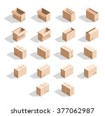 set of 18 realistic isometric... | Shutterstock . vector #377062987
