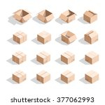 cardboard boxes with texture.... | Shutterstock . vector #377062993