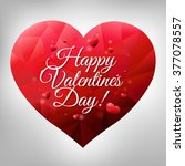 happy valentines heart with... | Shutterstock .eps vector #377078557