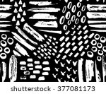 vector seamless pattern of... | Shutterstock .eps vector #377081173