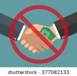 anti corruption concept hand... | Shutterstock .eps vector #377082133
