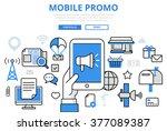 mobile promo digital marketing... | Shutterstock .eps vector #377089387