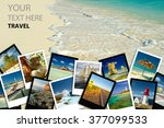 photo collage. travel concept. | Shutterstock . vector #377099533