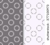 set of seamless patterns with... | Shutterstock .eps vector #377100973