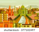 vector illustration of taj... | Shutterstock .eps vector #377102497