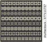 vintage border set for design  | Shutterstock .eps vector #377111737