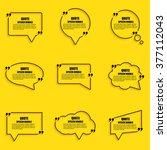 quote speech bubble vector... | Shutterstock .eps vector #377112043