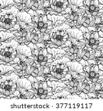 floral seamless pattern with... | Shutterstock .eps vector #377119117