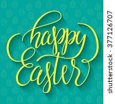 happy easter   hand drawn... | Shutterstock .eps vector #377126707