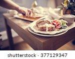main course.homemade easy...   Shutterstock . vector #377129347