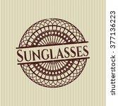 sunglasses rubber stamp | Shutterstock .eps vector #377136223