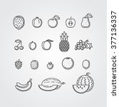fruits icons | Shutterstock .eps vector #377136337