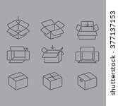 boxes icons   Shutterstock .eps vector #377137153