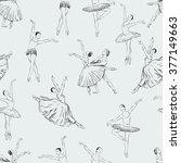 ballet dancers pattern | Shutterstock .eps vector #377149663