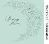 illustration of flowers bells | Shutterstock .eps vector #377158933