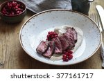 Venison With Chestnut Puree An...