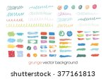colorful vector brush strokes... | Shutterstock .eps vector #377161813
