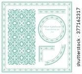 vintage frame pattern set 234... | Shutterstock .eps vector #377162317