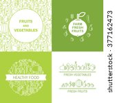 farm fresh healthy food vector... | Shutterstock .eps vector #377162473