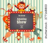 circus funfair and carnival... | Shutterstock .eps vector #377168803