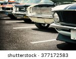 classic cars in a row | Shutterstock . vector #377172583