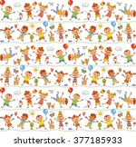 seamless ornamental pattern for ... | Shutterstock .eps vector #377185933