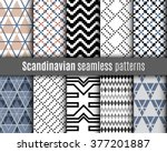 set of scandinavian patterns.... | Shutterstock .eps vector #377201887