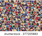 bright and big crowd of...   Shutterstock . vector #377205883
