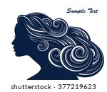 woman hair style silhouette | Shutterstock .eps vector #377219623