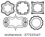 symmetrical frames vector set