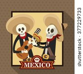 mexican culture design  | Shutterstock .eps vector #377229733