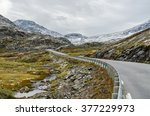 Road In Norway Highland T Fall...