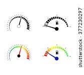 speedometer  and fuel level... | Shutterstock .eps vector #377230297