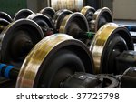 Spare Railway Wheels On The...